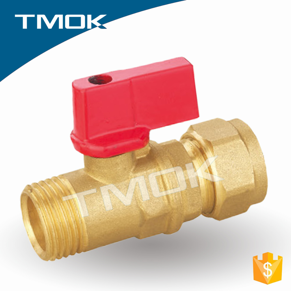 1/2 inch brass ball valve for gas mini PTFE CE approved full port with froged ball valve in tmok