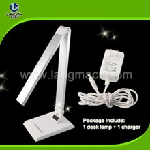 AC110-240 adapter touch sensitive led table lamp with Negative ion air purification 8w aluminum desk lamp