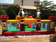 2014 cheap large inflatable fun city
