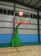 Hebei Huiya movable Electric hydraulic basketball stand/ basketball hoop for competition