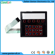 Waterproof Metal Dome Tactile Custom Branded Membrane Switch Keyboard With Foil