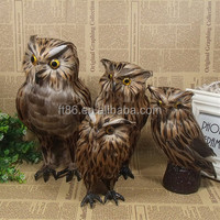 Natural handmade imitation feathered owl decoration