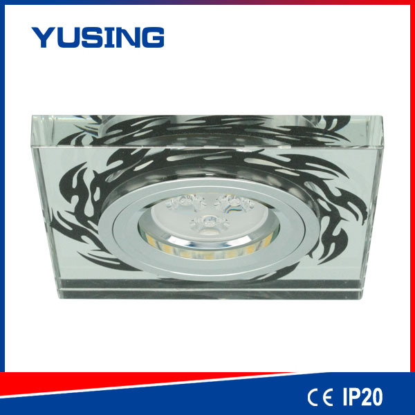 Flat Type Popular Design 3W Crystal Square LED Downlight
