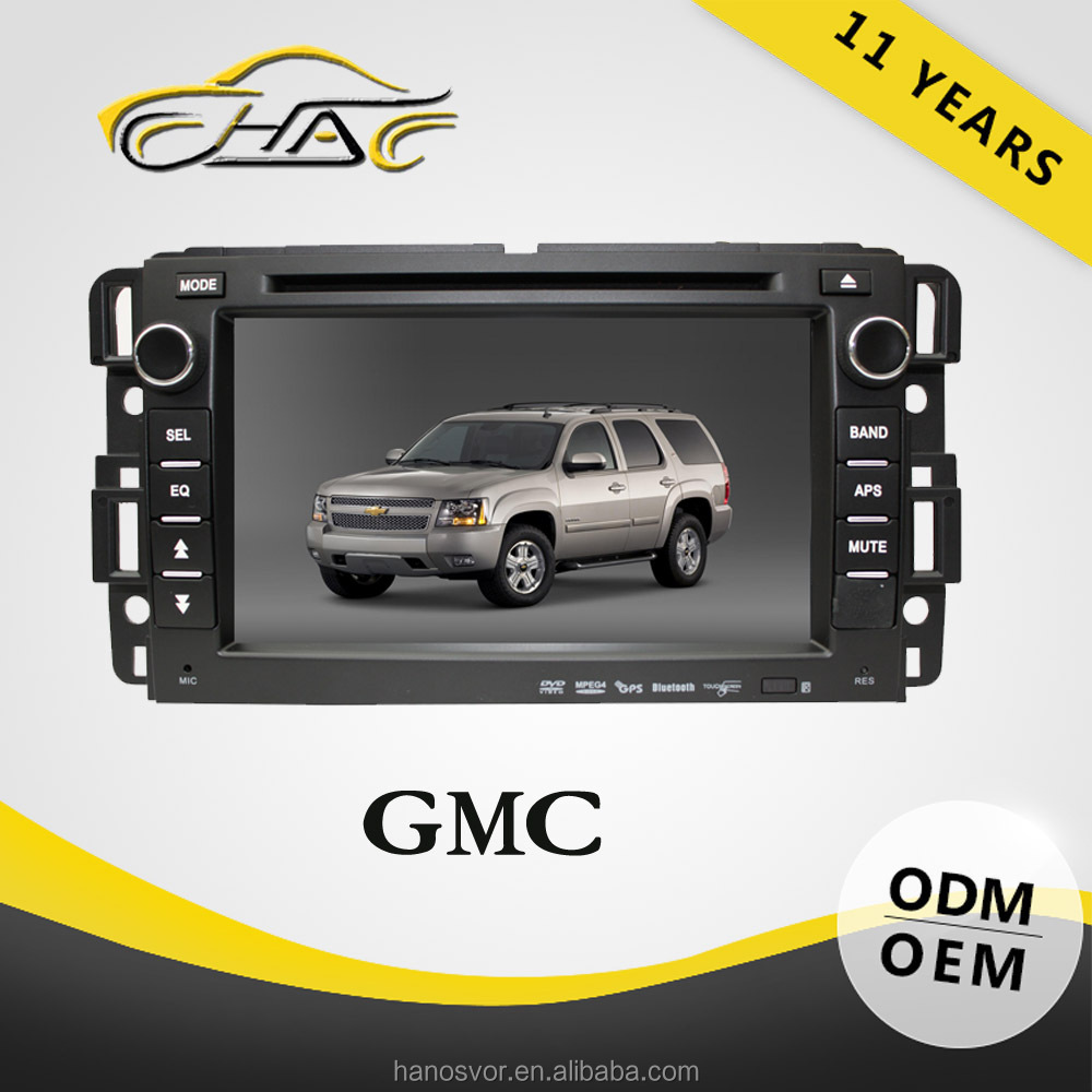 For Promotion/Advertising for 2007 gmc yukon gps 7 inch 8gb wince 6.0 car dvd player