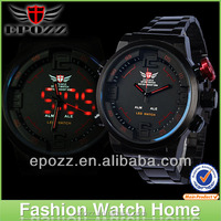 Hot selling Men Watch Military LED Digital Analog Sports Wristwatch 3 atm water resistant stainless steel watches