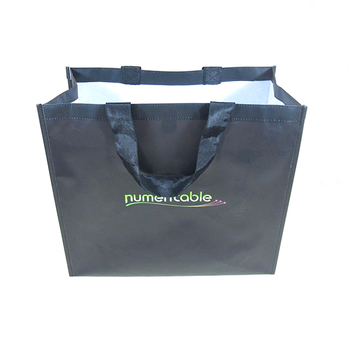 Black nonwoven reusable fabric Shopping bag