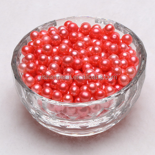 6-7mm high quality hot sale grade AAA wholesale light red color round freshwater loose pearl amazing a fashion gift meaning Enth