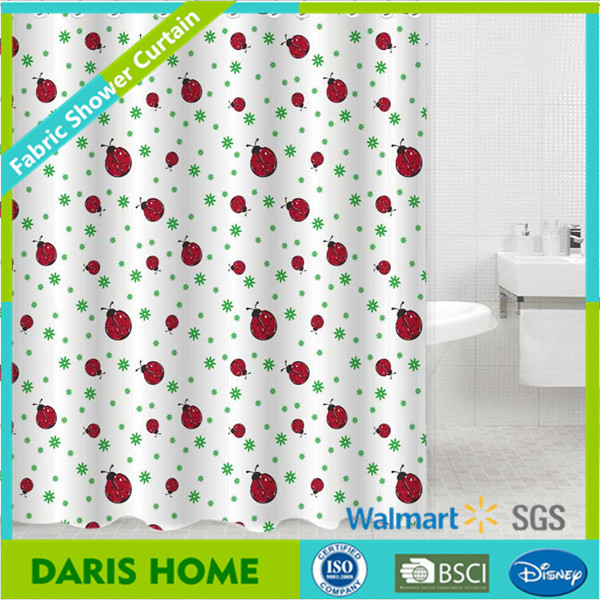 Suppliers Heavy Textile Full Printing Shower Curtain Polyester, Bathroom Curtain Set Unique