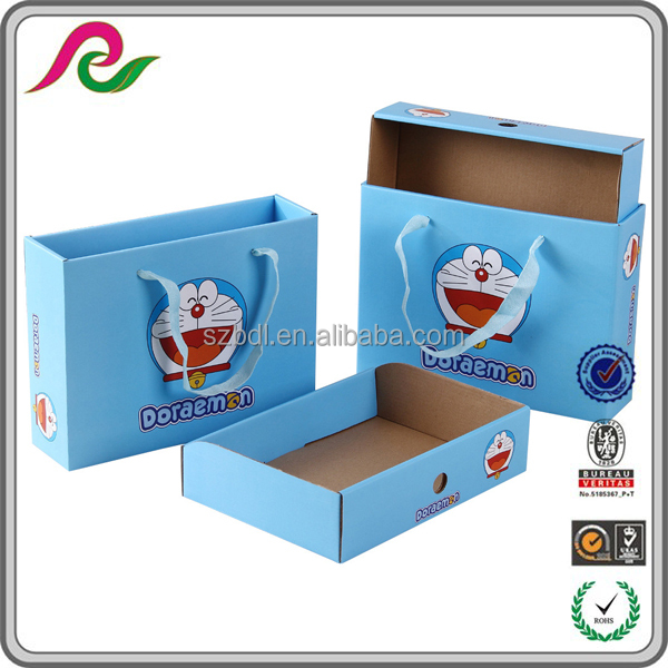 Folding Corrugated drawer box with doraemon printing for gift packing