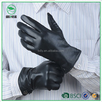 Smartphone mens sheep Leather Gloves Winter Warm leather glove China Manufacturer