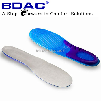 full length custom trimmed comfort sebs gel dual-density insoles
