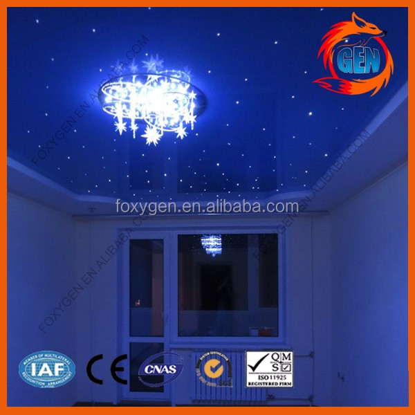 2017 fashion ceiling roof material PVC ceiling design for star sky ceiling