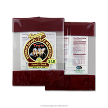 food grade custom printed plastic beef jerky bags with tear notch