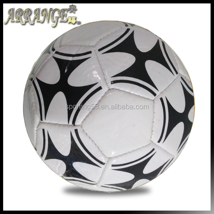 high quality soccer ball size two ANT007 black and white pvc eva foam eva new year promotional gifts football ball
