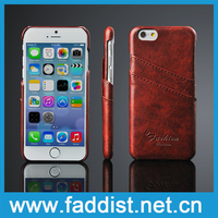 For iphone 6 leather case, wholesale leather back cover case for iphone 6