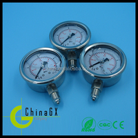 Liquid filled oil filled all stainless steel pressure gauge