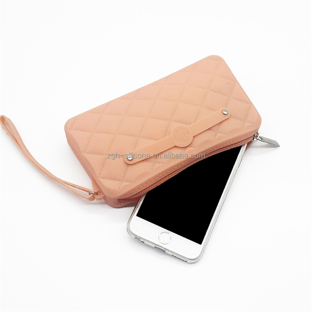 Amazon Hot Selling Silicone Ladies Hand Purse Phone Bag