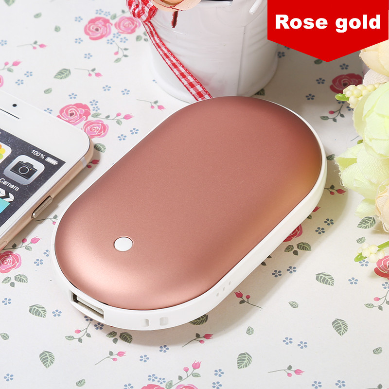 USB Rechargeable Mini Hand Warmer With 5200mAh Power Bank