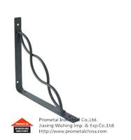 Decorative wood shelf bracket