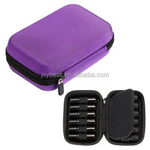 Factory custom Purple eva essential oil case for roll on essential oil bottles, travel carrying case for roll up bottles