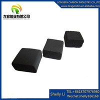 Export quality ,can design your brand name logo packing Cube shape coal for hookah