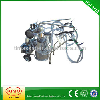 Electric Vacuum Pump-typed Double-barreled Mobile Milking Machine For Nanny Goat