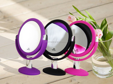 Soft feel table top makeup mirror, 10x desktop makeup mirror, swivel stand table cosmetic mirror