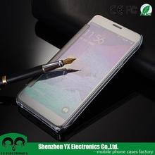 top selling transparent view flip mobile phone cover for samsung galaxy note 5