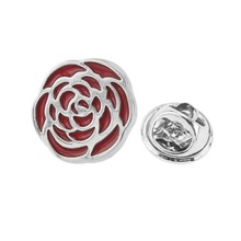 Metal rose flower suit lapel pin for men