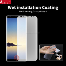 Hydrated Tpu Film Korea Material Wet applied screen protector for galaxy note8
