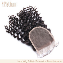 New Hot 4x4 french lace hair piece top closure kinky curly lace closure