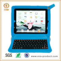 Shock Resisitant EVA bluetooth keyboard for ipad 2 with case