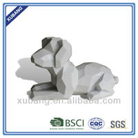 resin carved cube dog product sculpture