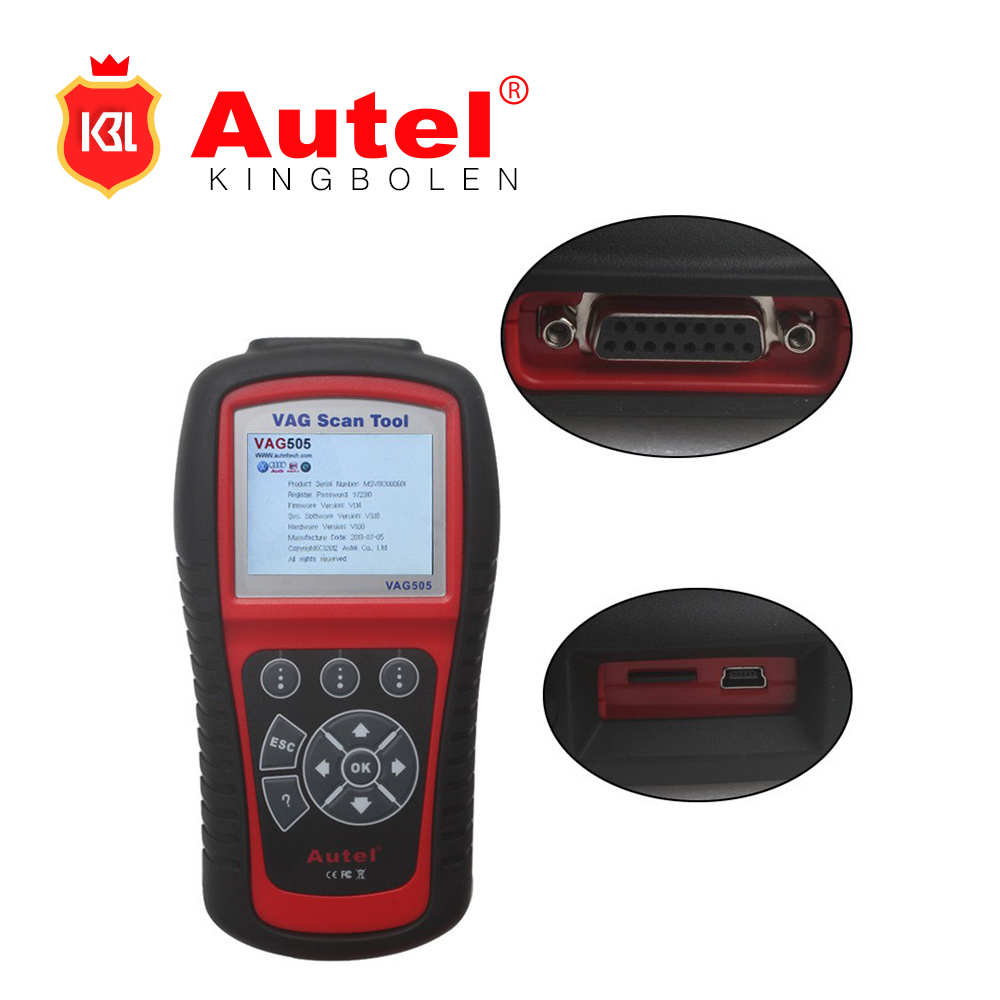 Autel MaxiService VAG505 Scan Tool For VW for AUD1 for SKODA for SEAT Car Diagnostic Scanner OBD2 Code Reader Free Update Online