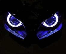 ABS Plastic Racing Motorcycle Headlight Angel Eyes Ninja 300 For KAWASAKI