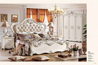 king size white color bedroom set classic design furniture economic price furniture