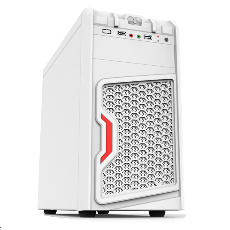0.4mm/0.5mm SECC Good Quality ATX Computer Case White Vertical Pc Case for Computer CR-3W