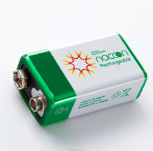 9v 220mah NI-MH nickel metal hydride rechargeable battery 9v rechargeable battery
