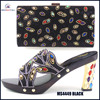 2016 latest desgn matching black shoes and bags with good price MS4449