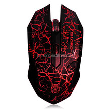 China Brand USB Optical Gaming Mouse red purple yellow color
