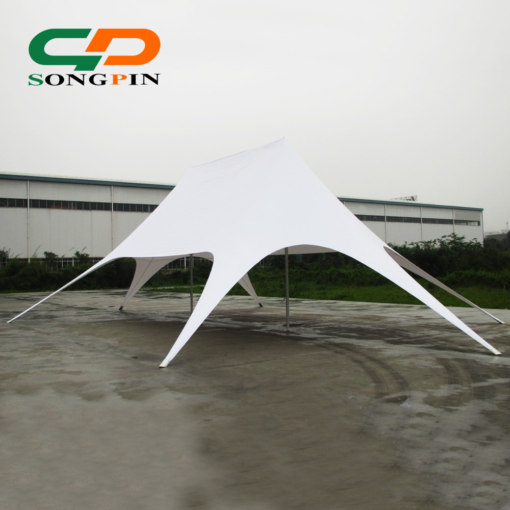 aluminum pole PVC fabric Double star tent in trade show tents
