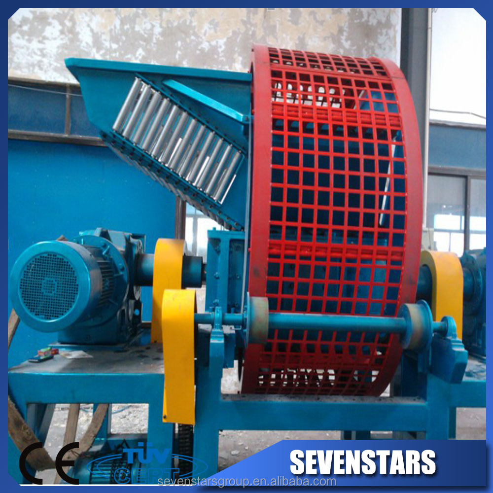 waste rubber tire crusher/shredder machine/tyre recycling plant