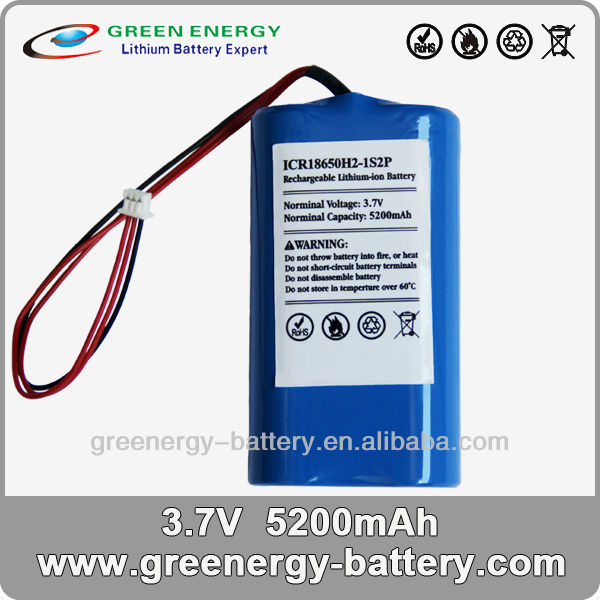 18650 cylindrical nimh 3.7v isr18650 li-ion rechargeable battery 3.7v 1s2p 4400mah