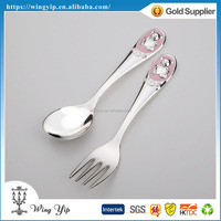 Tailor made good quality Baby Pink Nickel Plated Cutlery for Souvenir