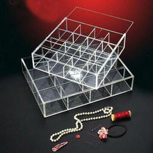 plastic clear organizer storage display tray with divider wholesale