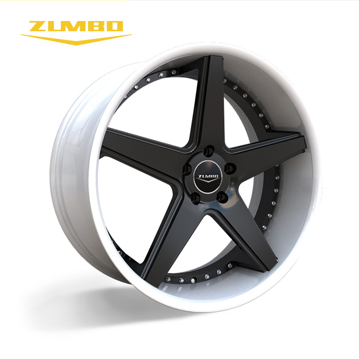 Zumbo-A0008 Black+white(Lip) OEM New Design rims aluminium <strong>alloy</strong> with pcd 100-130 rotiform replica <strong>alloy</strong> wheel 20&quot; 22&quot;