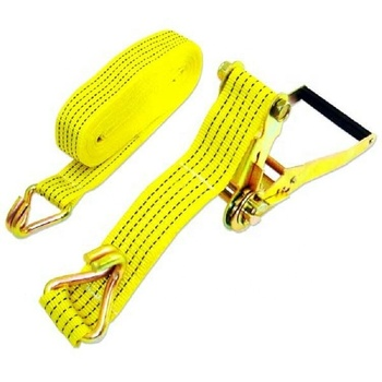 2 inch 27ft 10000lbs heavy duty truck ratchet tie down cargo lashing straps with double J hooks