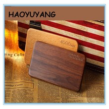 New Mobile Power Supply Powe Bank 4000mAh Wood Shell Port External Battery Pack