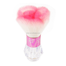 new design synthetic hair square kabuki brush with acrylic base
