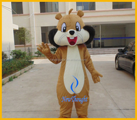 Adult squirrel mascot costume